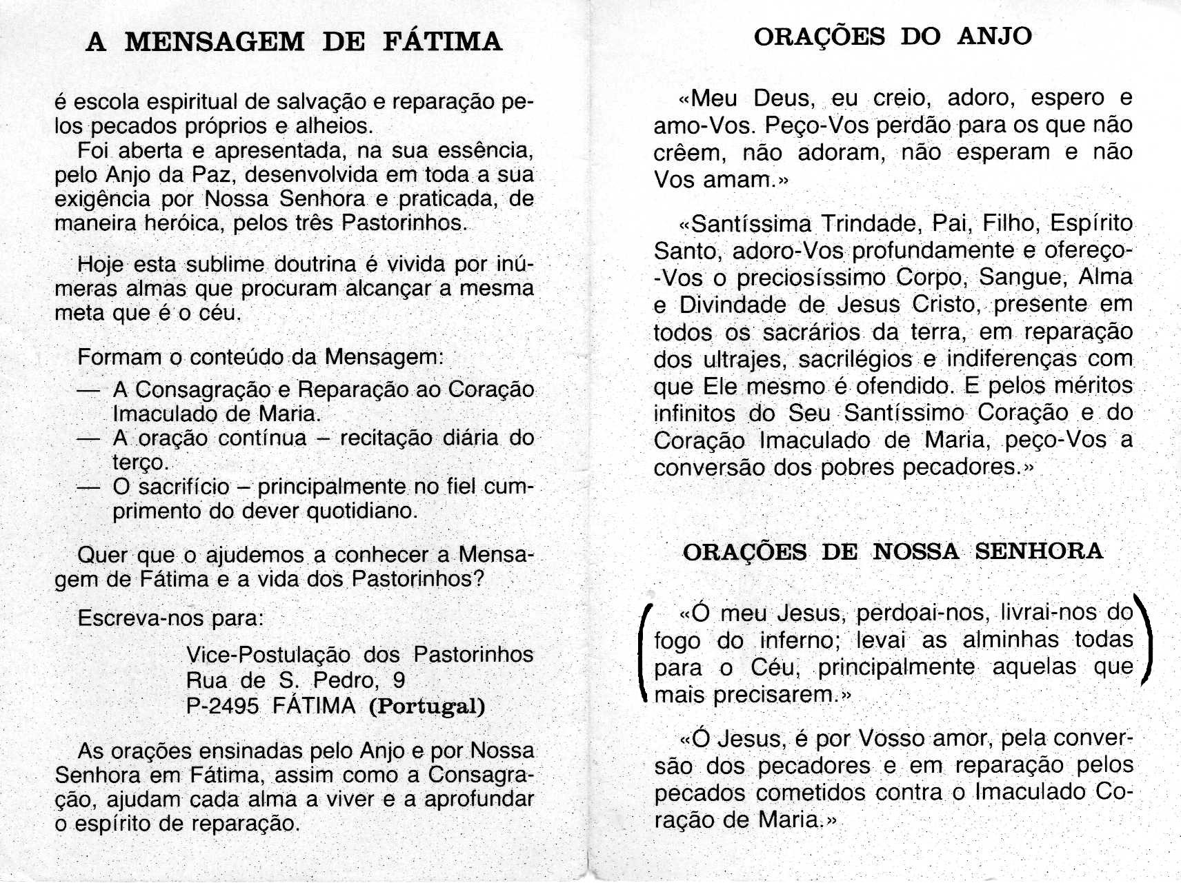 Fatima Prayer Latin 99