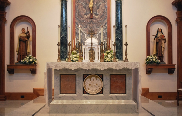 renovated carmelite sanctuary