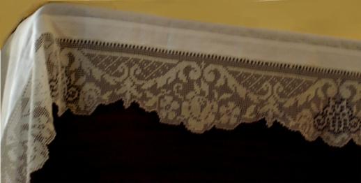 Carmelite monstery altar cloth
