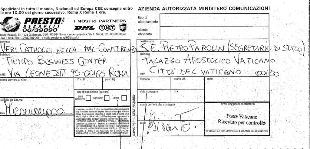13528434_1316300211731115_Veri Catholici conf_Parolin