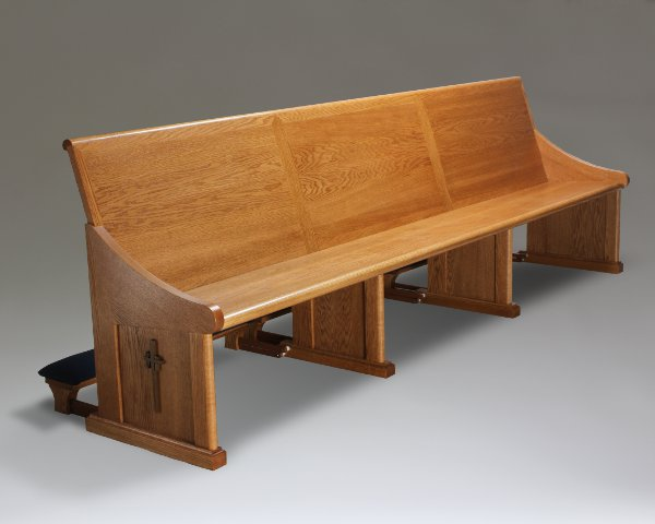 New Pews And An Altar Rail For A Catholic Chapel
