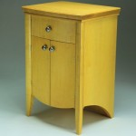 Maple Bow Front Cabinet