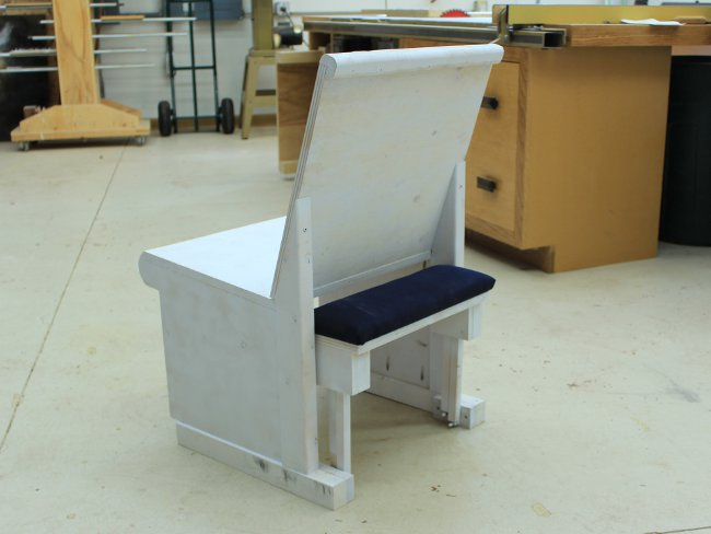 Pew chair mockup