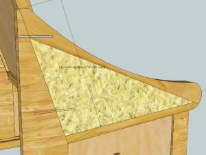 Schematic of pew arm