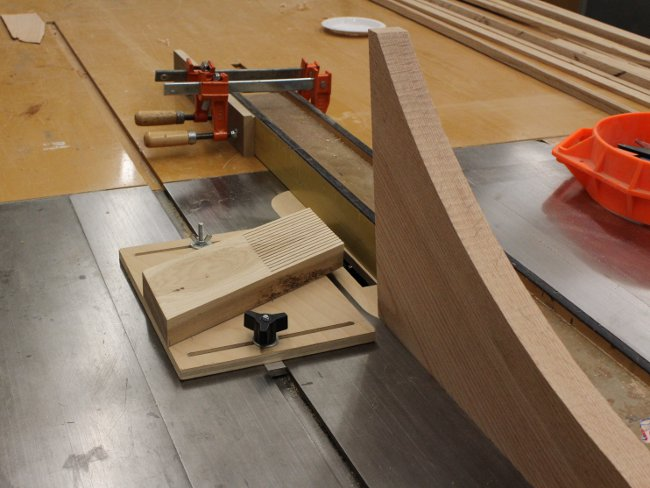 Cutting joinery on arms