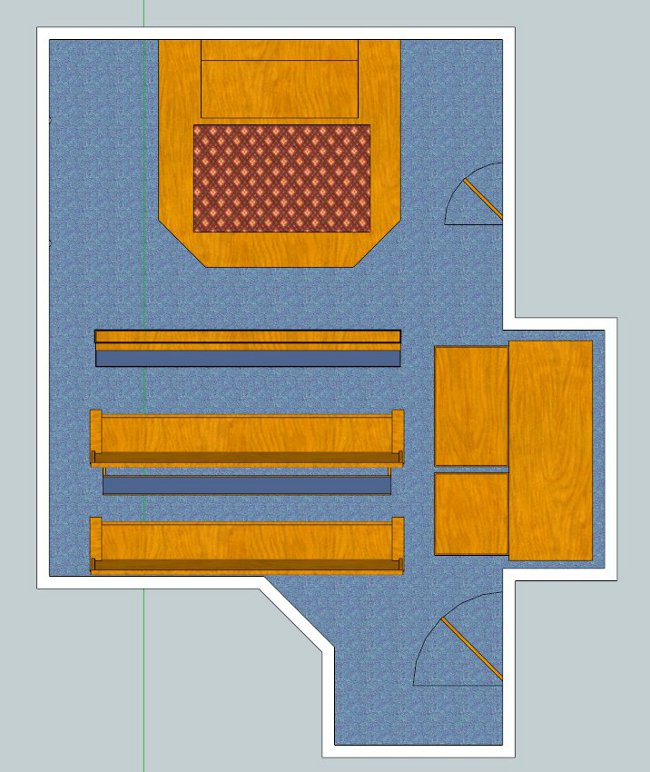 Floorplan for oratory