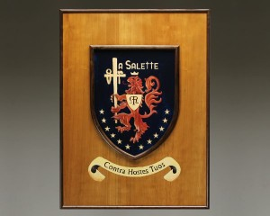 Studio photograph of the crest and frame