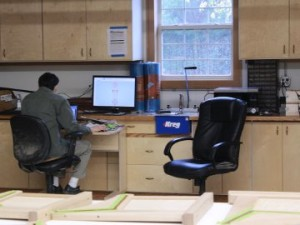 Designing at the Computer on a Rainy Summer Day