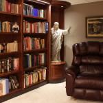 Private library with statue niche
