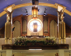Balcony of Maternity BVM choir loft