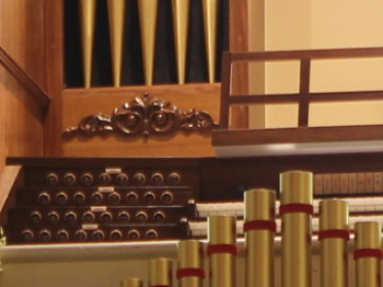 Church Organ Decorated by Custom, Architectural Millwork