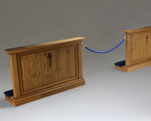 Altar Rail with velvet rope gate