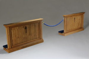Small altar rail for chapels with limited space