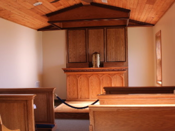 New Chapel With All New Custom Furniture