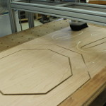 Plywood sign milled out on router