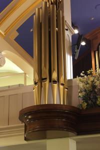 radius crown molding in a church