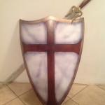 painted wood shield