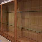 cherry and ash display cases