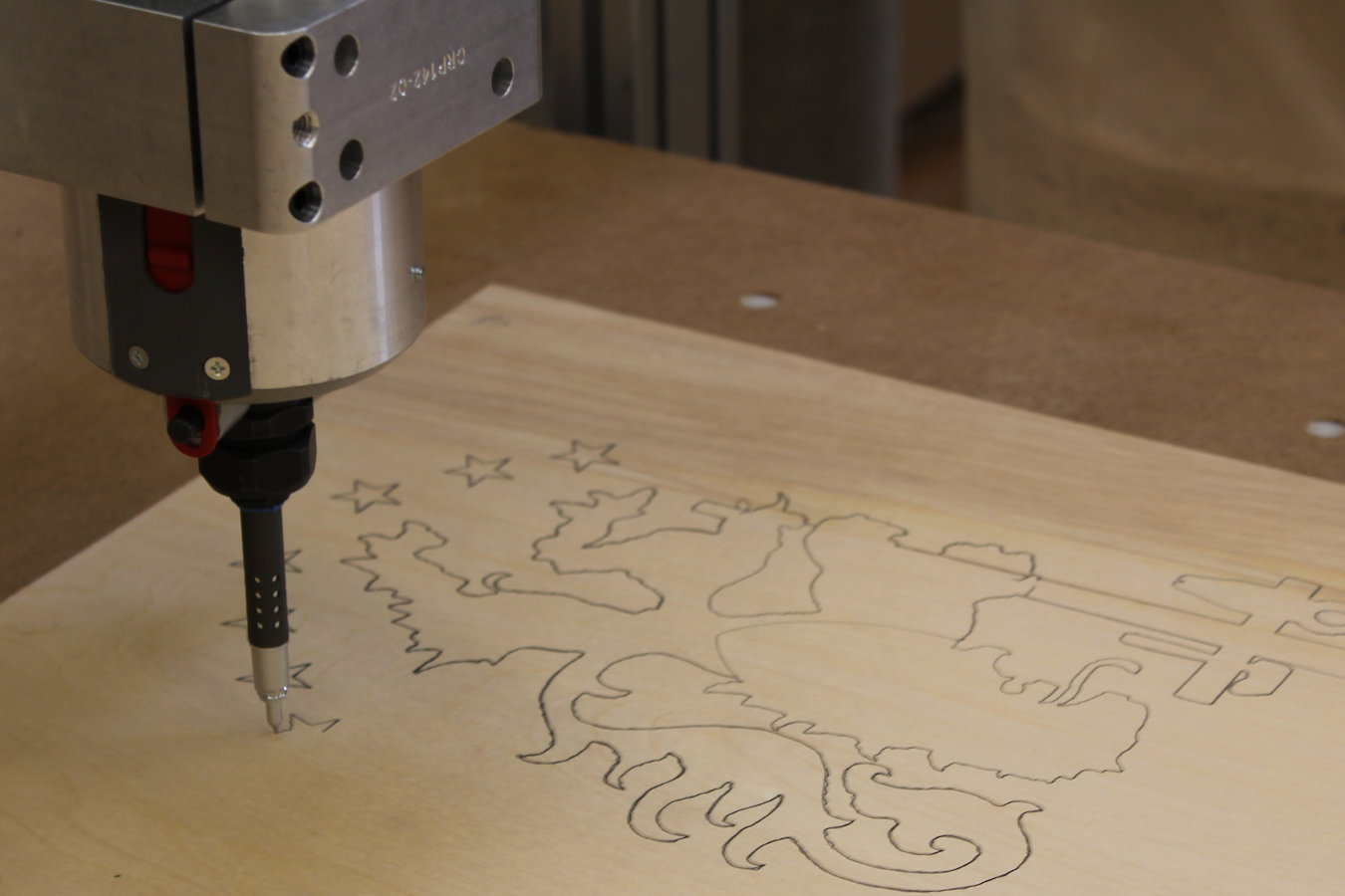 Full-sized drawings are done by using the CNC as a large scale plotter ...